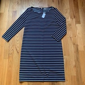 Navy Blue & White 3/4 Sleeve Gap Dress NWT